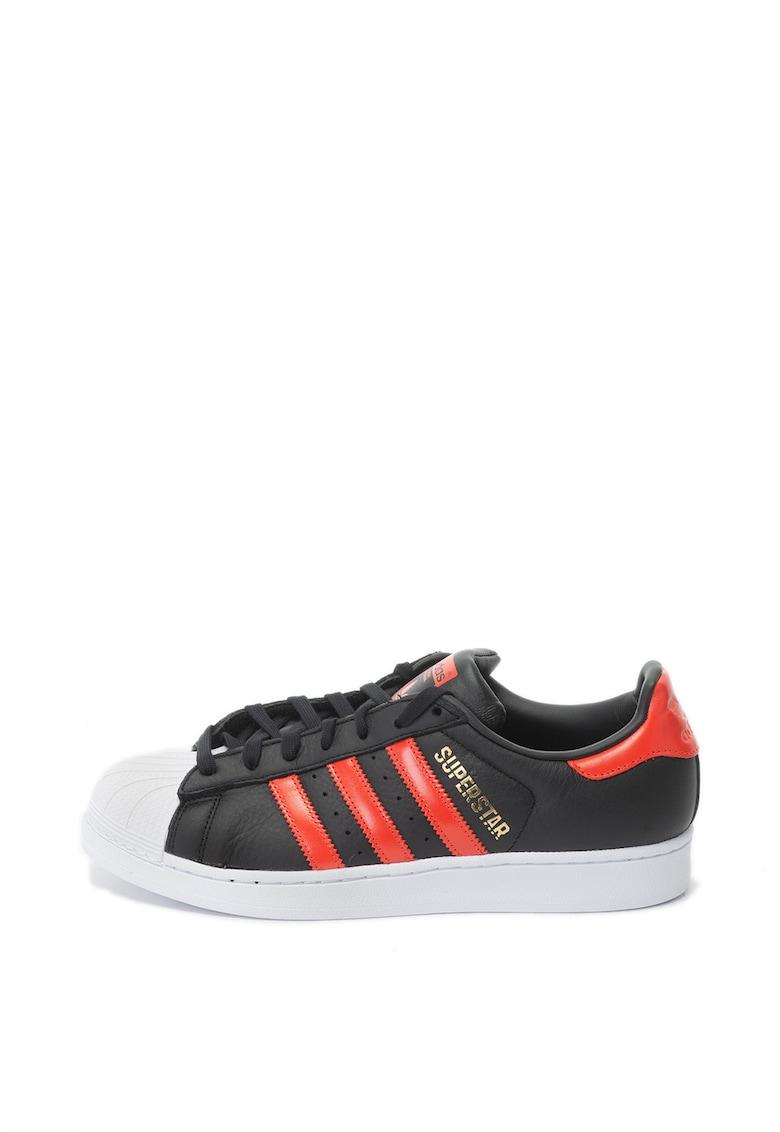 Pantofi sport cu dungi emblematice Superstar de la Adidas ORIGINALS