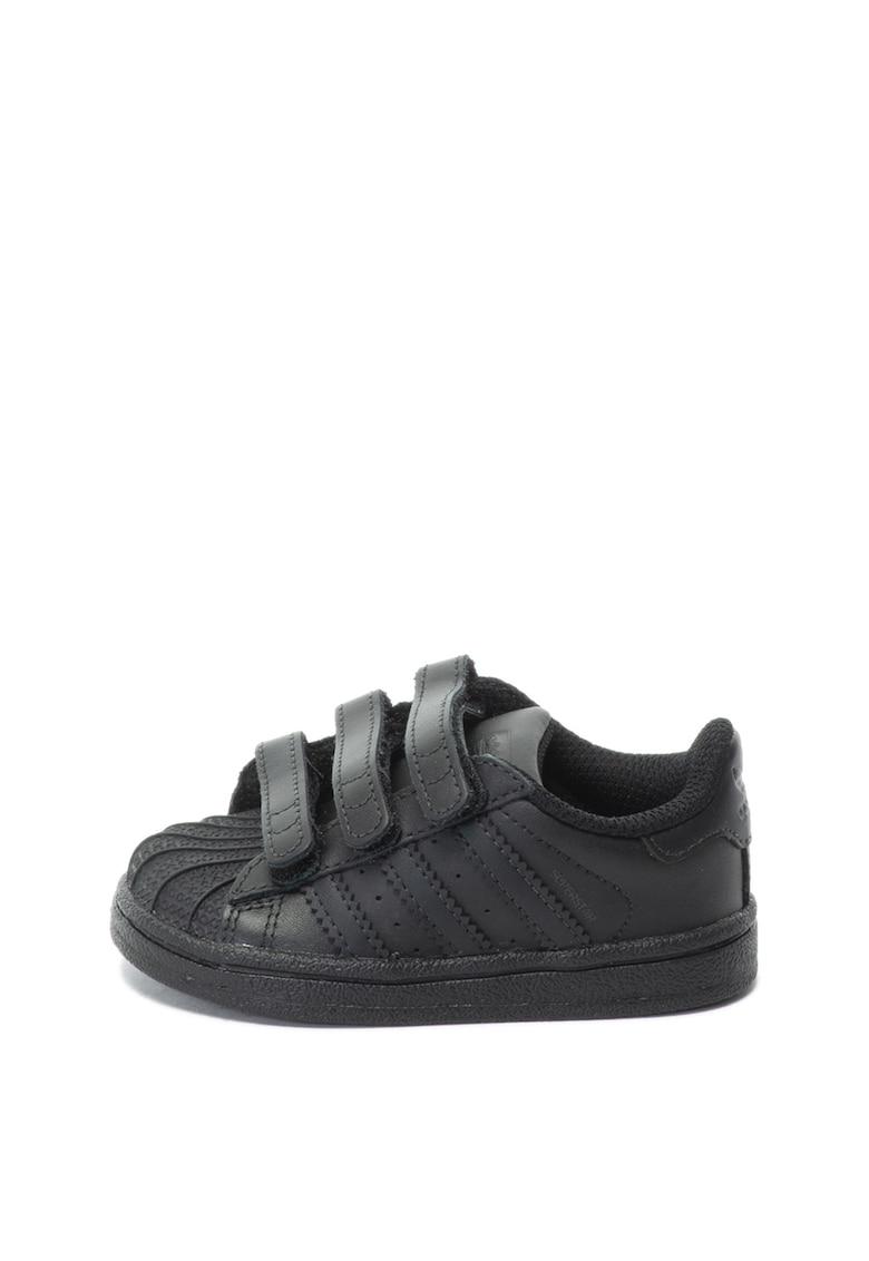 Adidas ORIGINALS Pantofi sport de piele cu benzi velcro Superstar