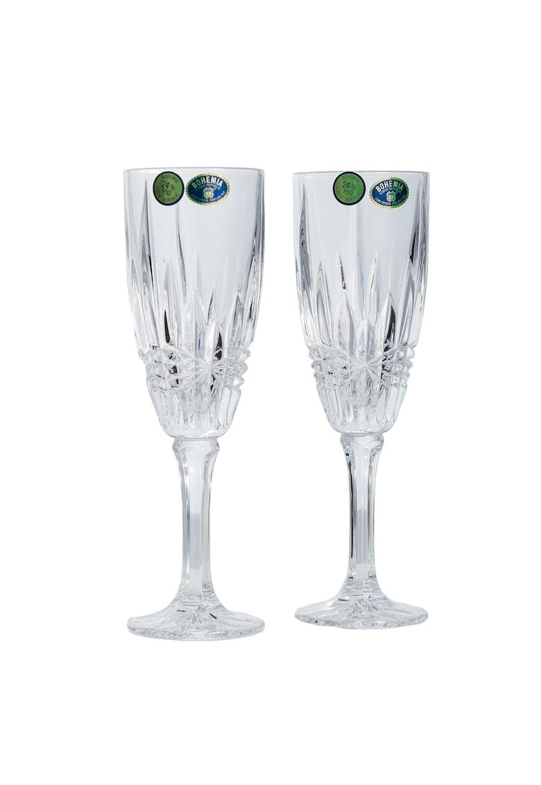 Set 6 pahare sampanie model Vibes - cristal - 180 ml