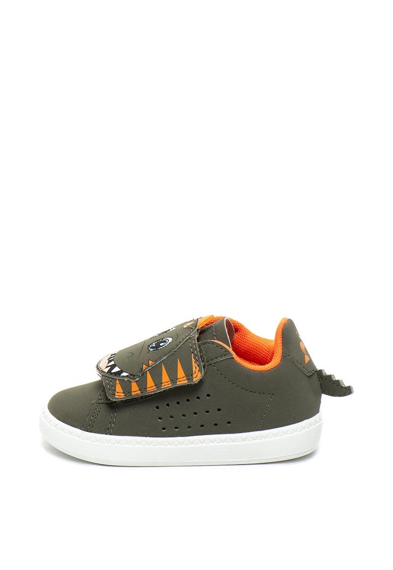 Pantofi sport cu velcro si design dinozaur Courtset Dino de la Le Coq Sportif