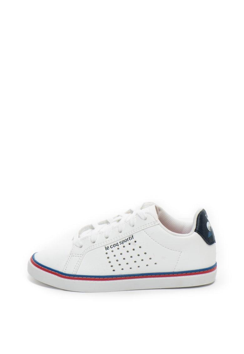Pantofi sport de piele ecologica – cu detalii perforate Courtace GS de la Le Coq Sportif