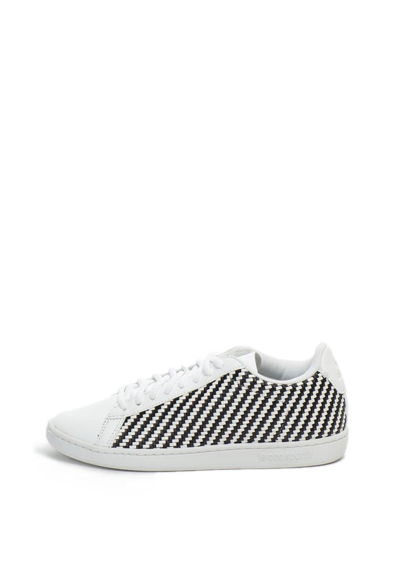 Le Coq Sportif Pantofi sport de piele ecologica – cu aspect impletit Courtset