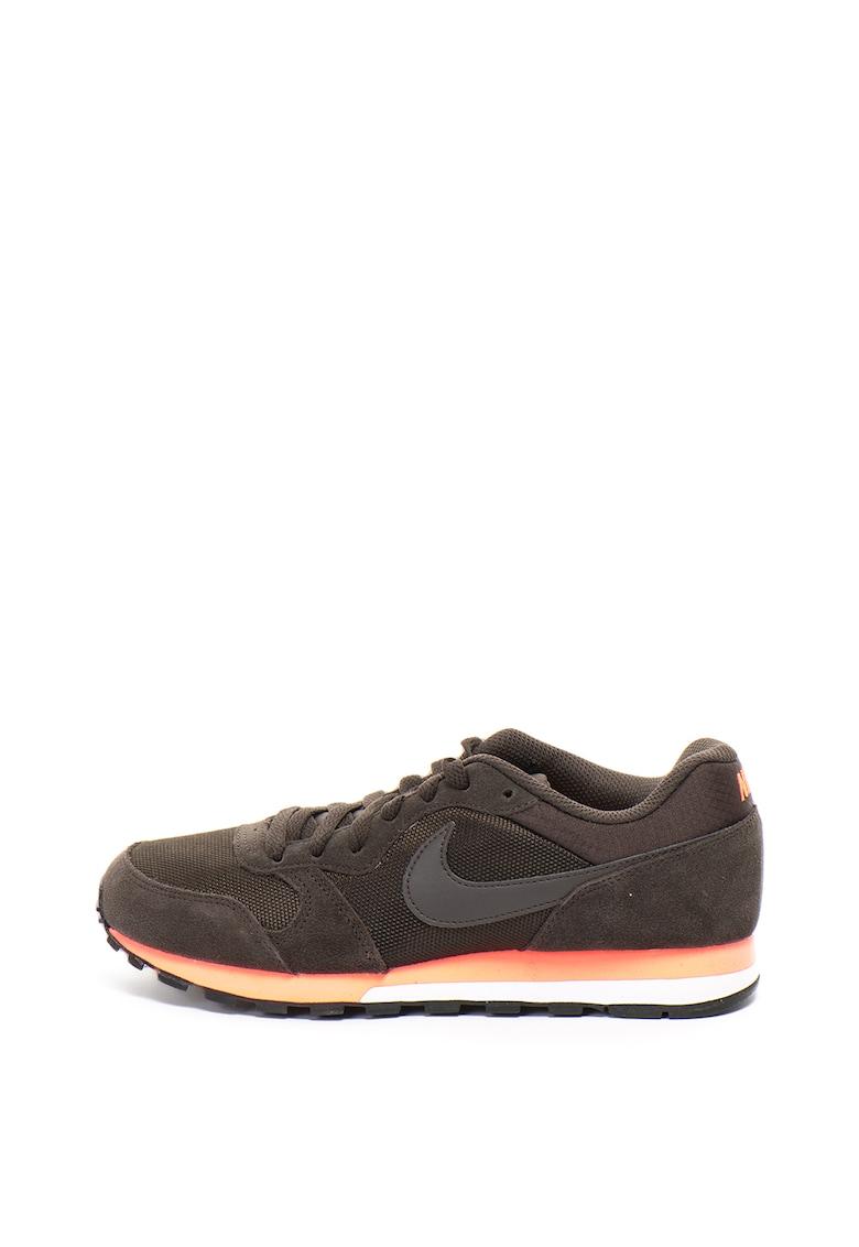 Pantofi sport de piele intoarsa si plasa MD Runner 2 de la Nike