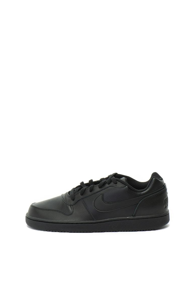 Pantofi sport de piele si piele ecologica cu talpa joasa Ebernon