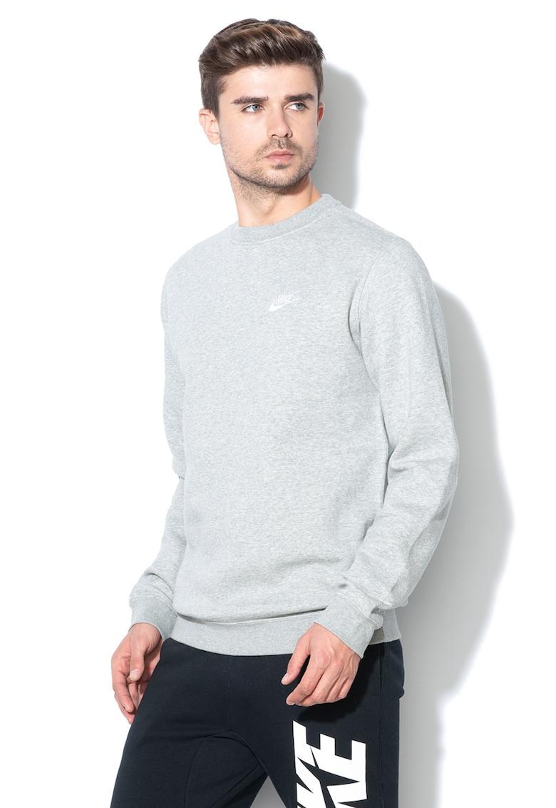 Nike Bluza sport cu decolteu la baza gatului si logo