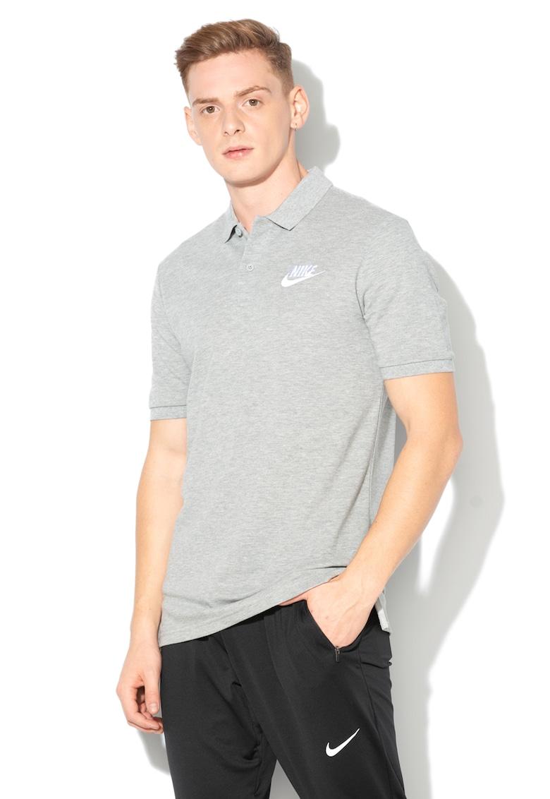 Tricou polo din pique cu broderie logo Nike