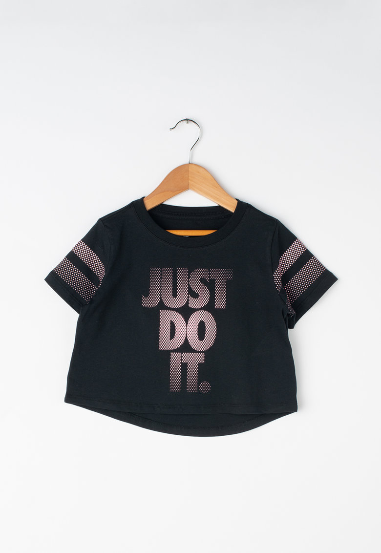 Tricou crop cu imprimeu logo de la Nike