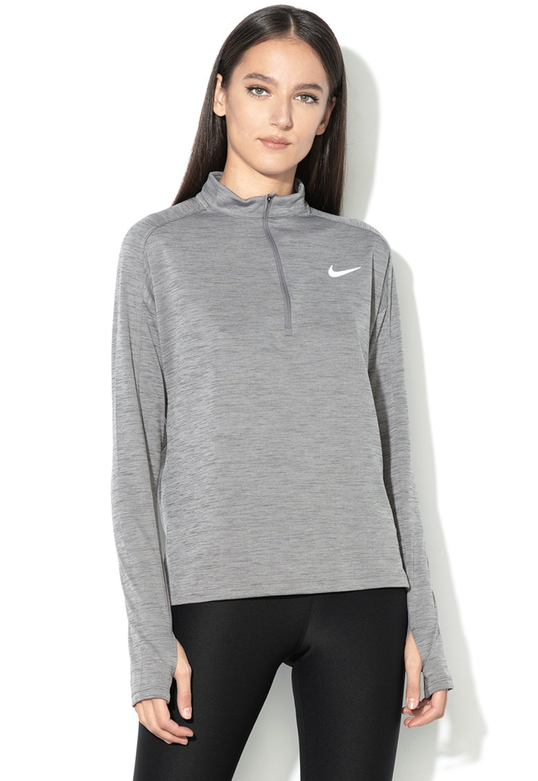 Nike Bluza dri-fit cu fenta scurta cu fermoar – pentru alergare