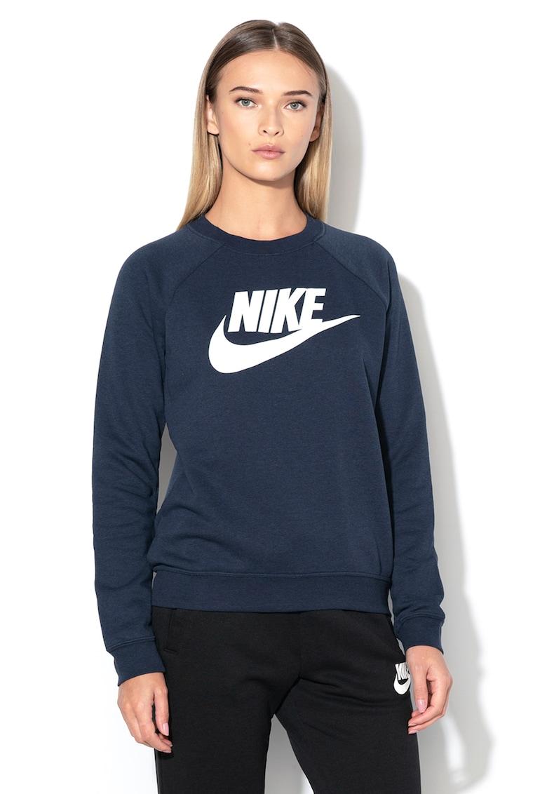 Nike Bluza sport cu decolteu la baza gatului si imprimeu logo