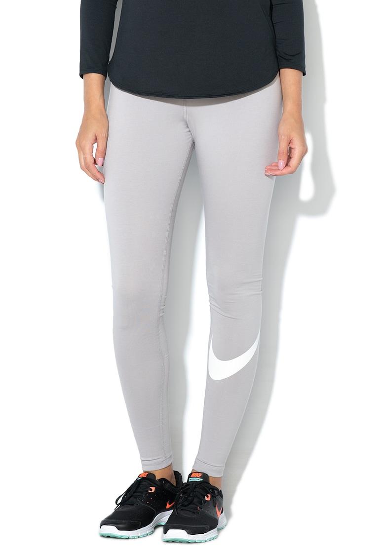Nike Colanti cu banda logo elastica in talie – Gri melange