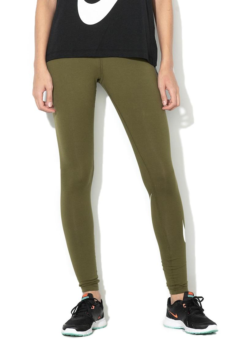 Nike Colanti cu banda logo elastica in talie – Verde militar