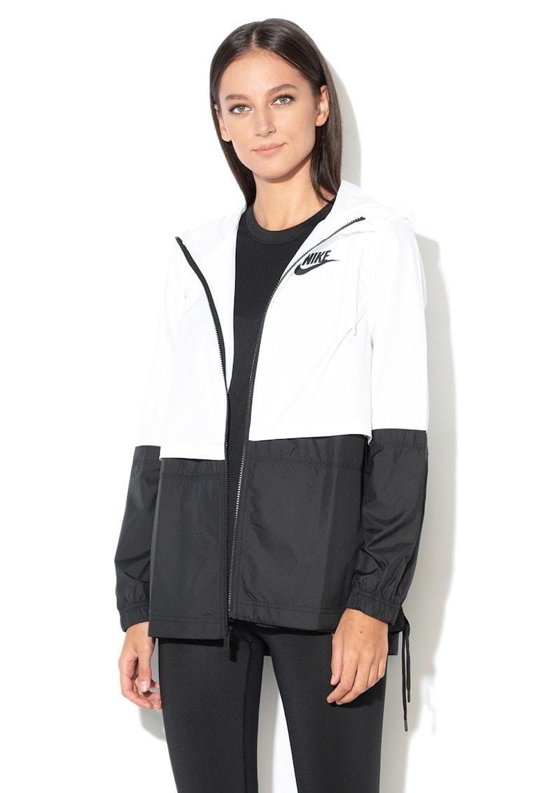 Jacheta din material usor cu gluga Nike