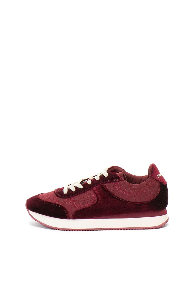 DESIGUAL Pantofi sport cu garnituri de catifea Galaxy