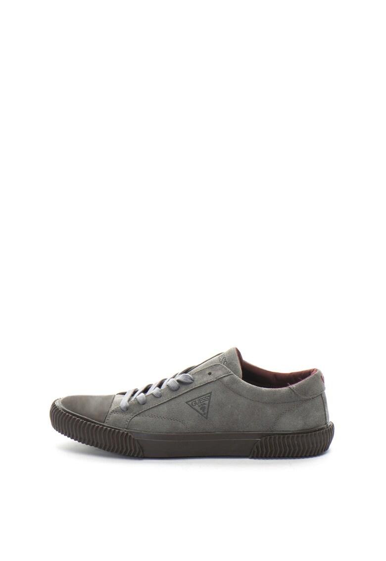 Pantofi sport de piele intoarsa cu varf intarit