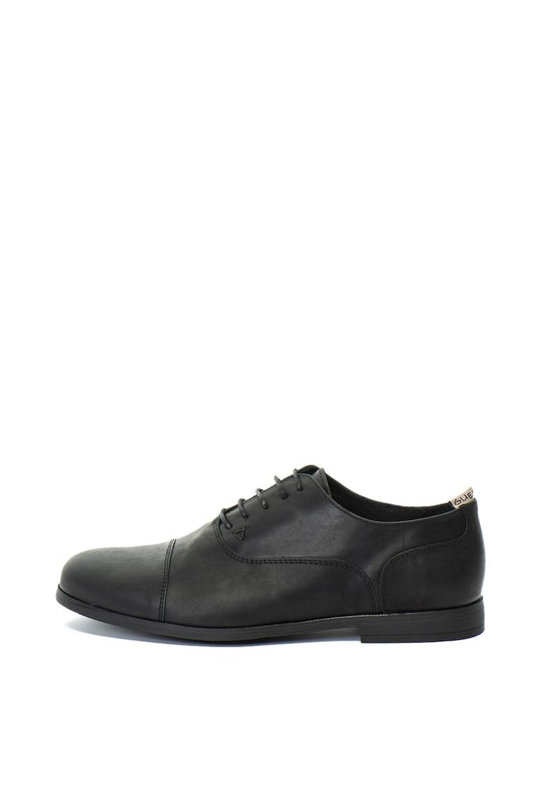 Guess Pantofi Oxford de piele