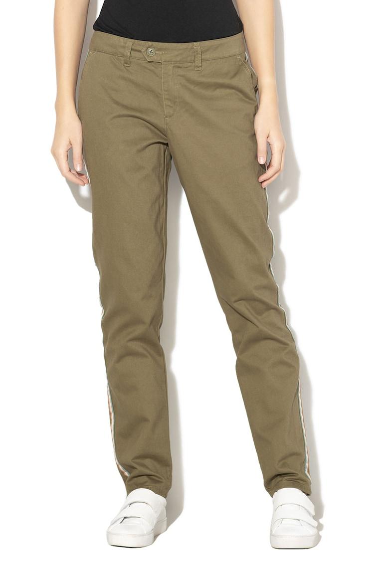 Pantaloni chino cu garnituri contrastante laterale Poetry Soul