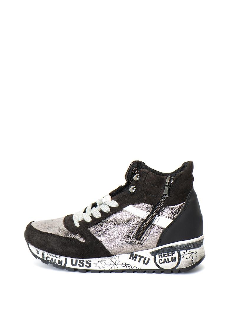 Zee Lane Pantofi sport inalti cu detalii metalice