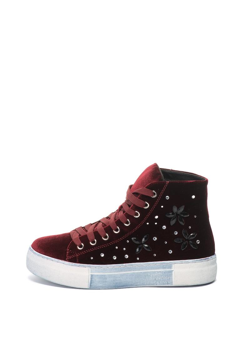 Oakoui Pantofi sport inalti de catifea Eva