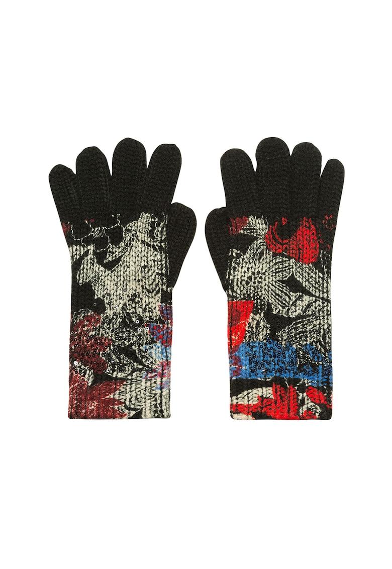 DESIGUAL Manusi din tricot cu imprimeu floral