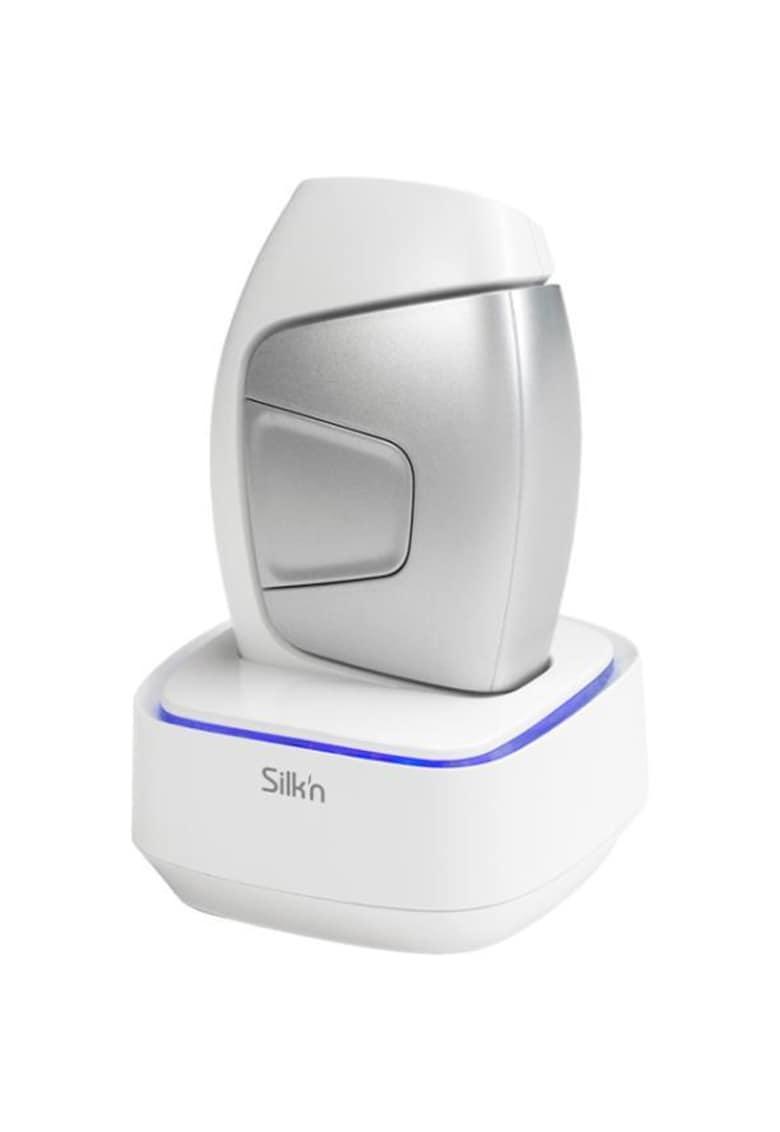 Epilator HPL Silk'n Glide Unisex - 200000 impulsuri - Lumina intens pulsata - tehnologie IPL - Dispozitiv de dezinfectare - corp si fata - utilizare cu fir - Alb/Argintiu