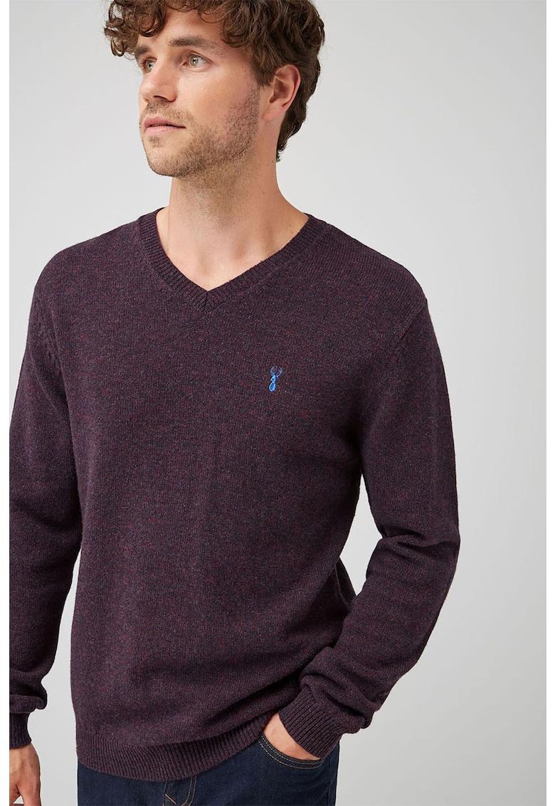 Pulover de lana cu decolteu in V imagine fashiondays.ro 2021