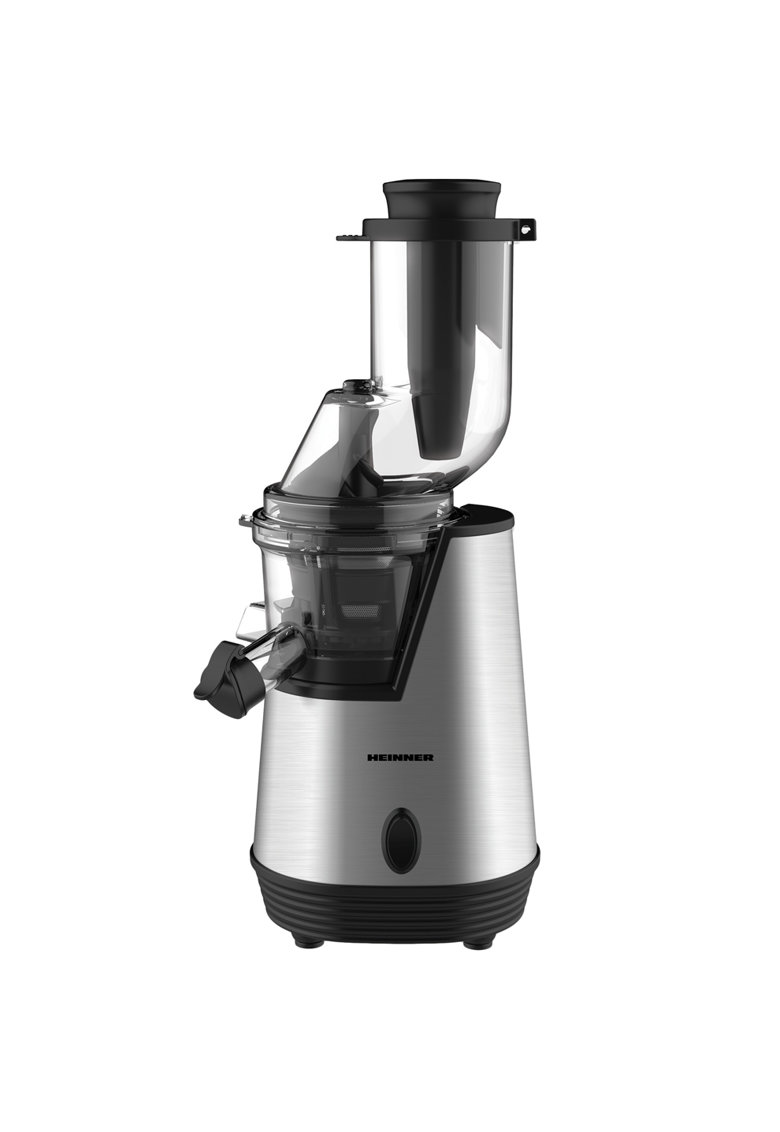 Storcator de fructe cu melc   - 200 W - 75 Rpm - Tub larg 80 mm - Recipiente fara BPA - Functie reverse - Inox