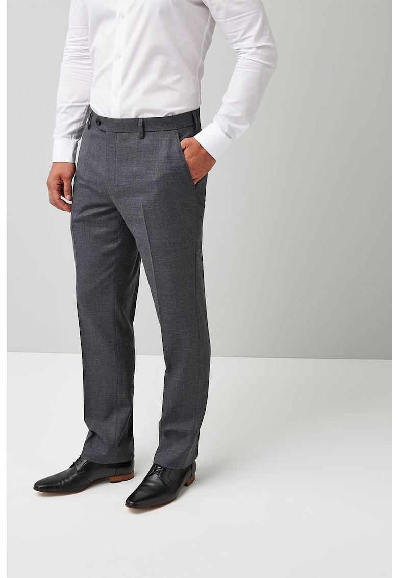Pantaloni eleganti regular fit din amestec de lana de la NEXT