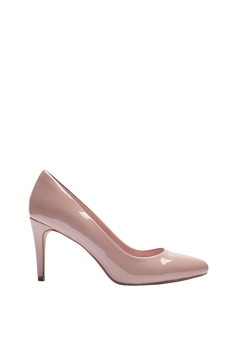 Pantofi cu varf migdalat si aspect lacuit NEXT