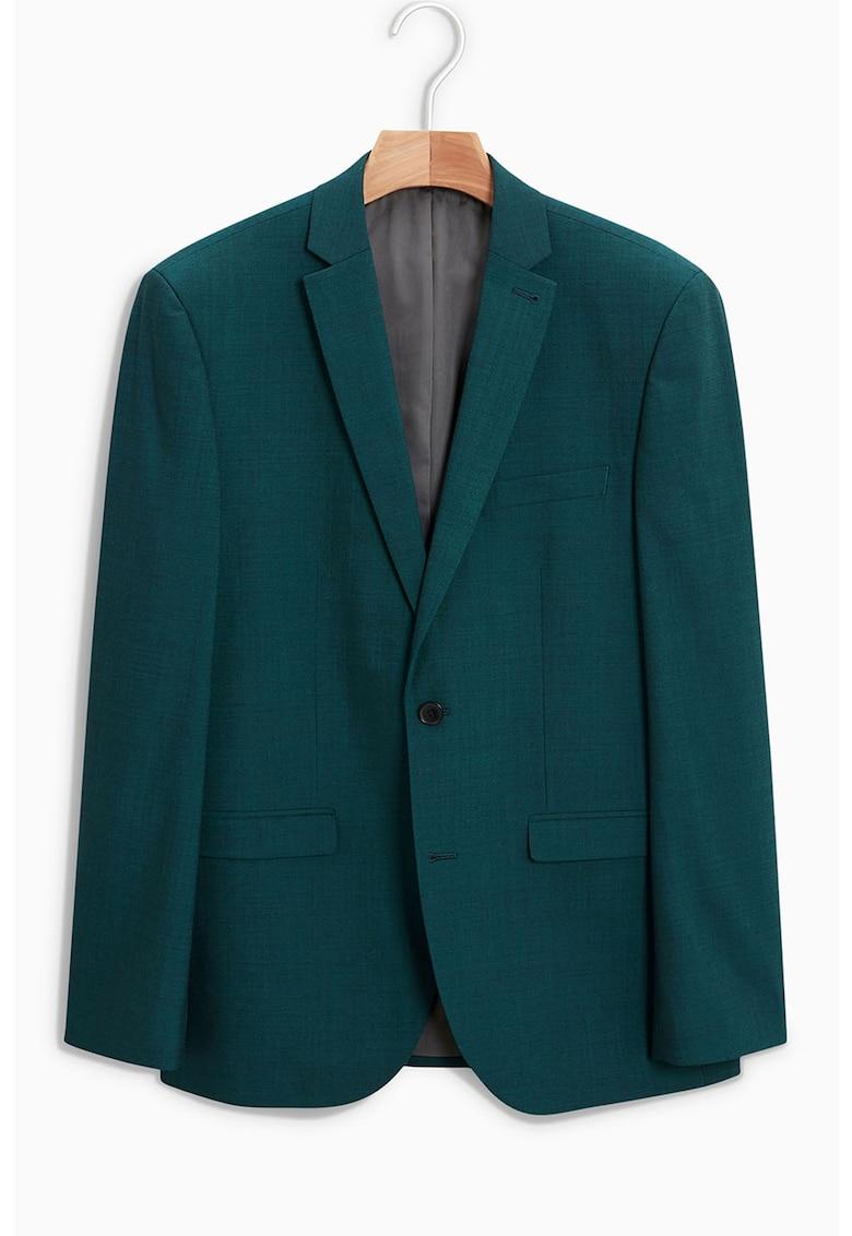 Sacou tailored fit din amestec de lana