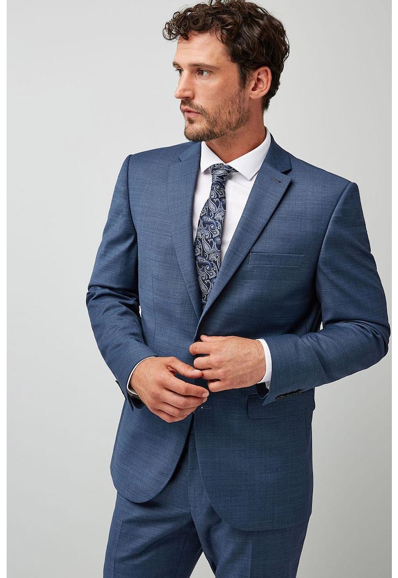Sacou elegant tailored fit din amestec de lana