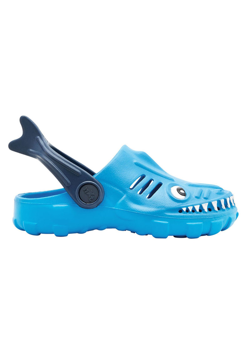 Saboti slingback cu design rechin