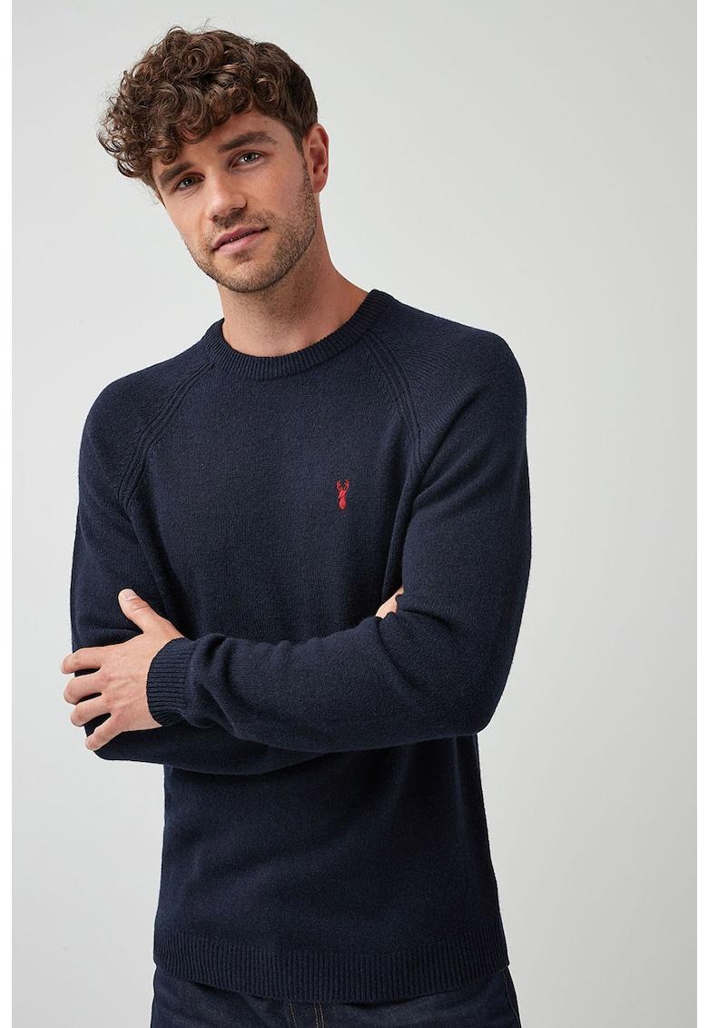 Pulover de lana cu detaliu brodat