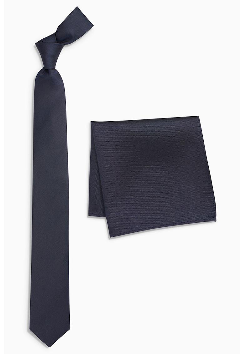 Set de cravata de matase si batista decorativa de la NEXT