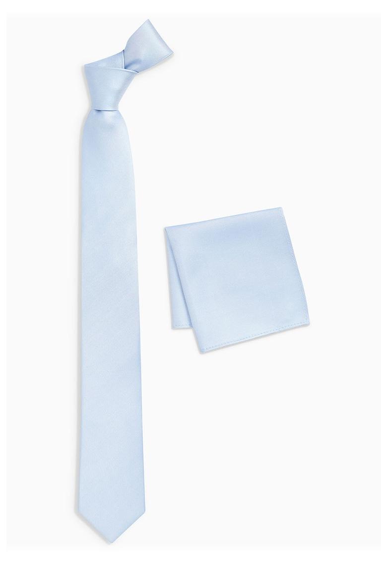 Set de cravata de matase si batista decorativa - 2 piese