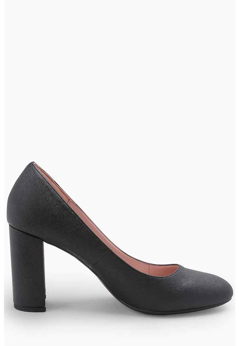 Pantofi de piele sintetica cu toc masiv de la NEXT