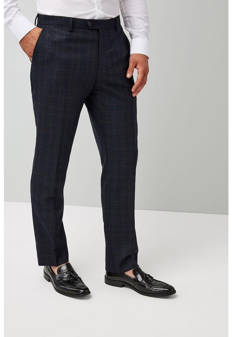Pantaloni conici din amestec de lana
