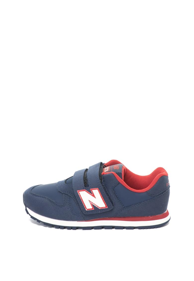 New Balance Pantofi sport de piele intoarsa si piele ecologica cu velcro 373