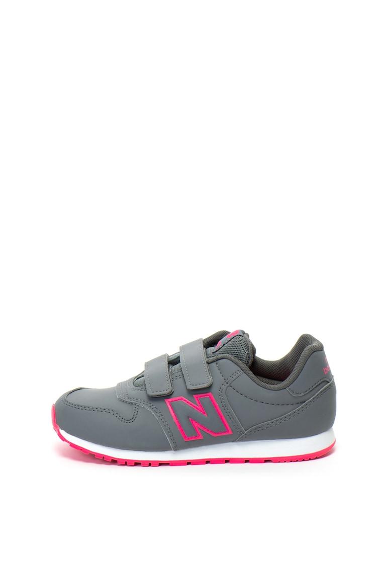 New Balance Pantofi sport din piele ecologica cu velcro 500
