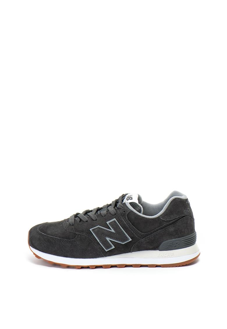 New Balance Pantofi sport de piele intoarsa cu insertii textile 574