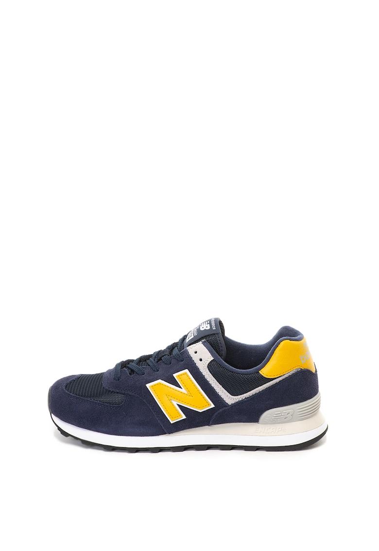 New Balance Pantofi sport de piele intoarsa cu insertii de plasa 574