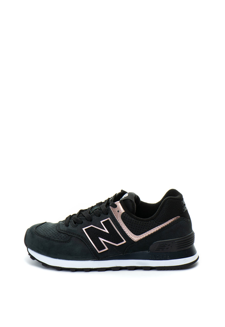 New Balance Pantofi sport de piele nabuc si plasa 574