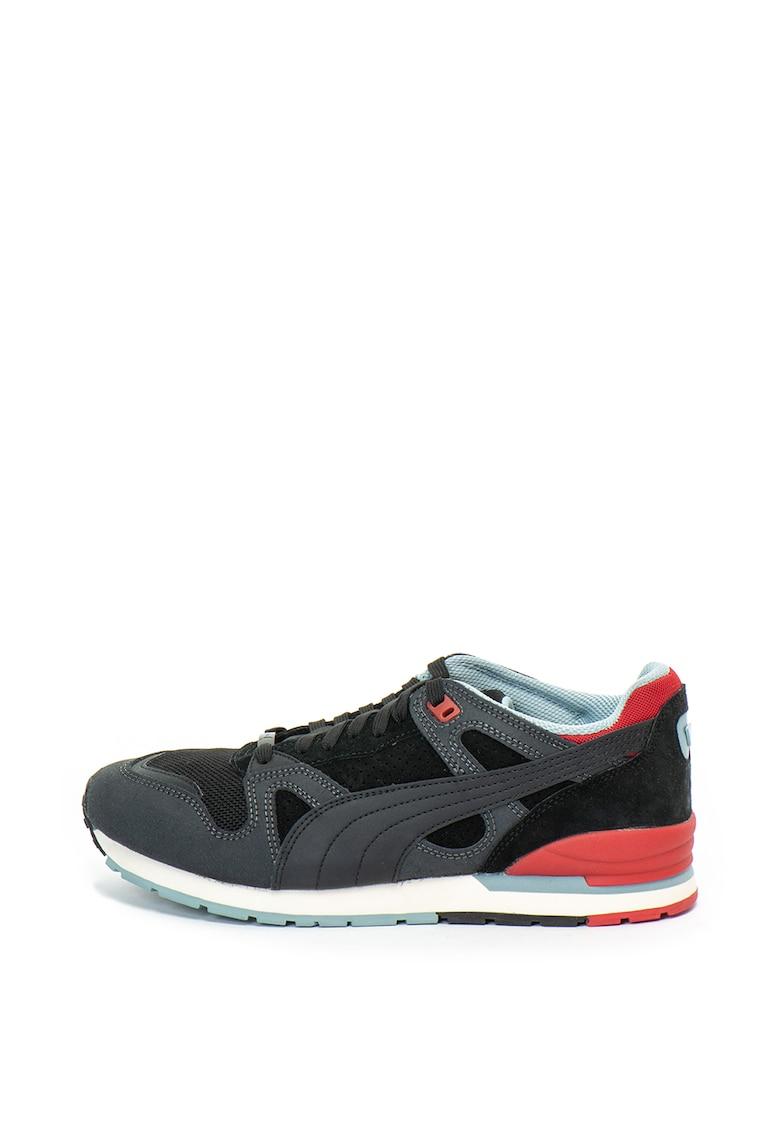 Pantofi sport de piele intoarsa si material textil Duplex 0G Flag