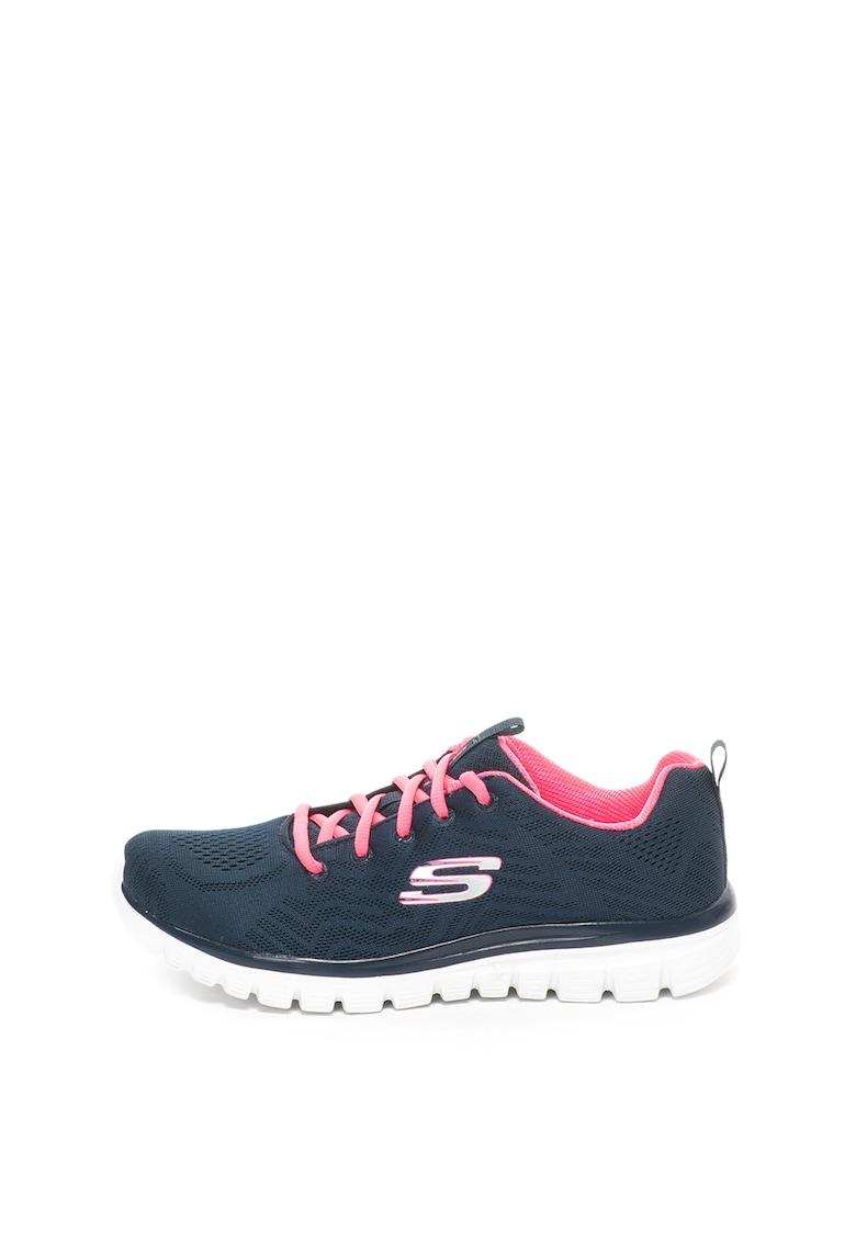 Pantofi sport usori cu aspect tricotat si spuma de memorie Graceful
