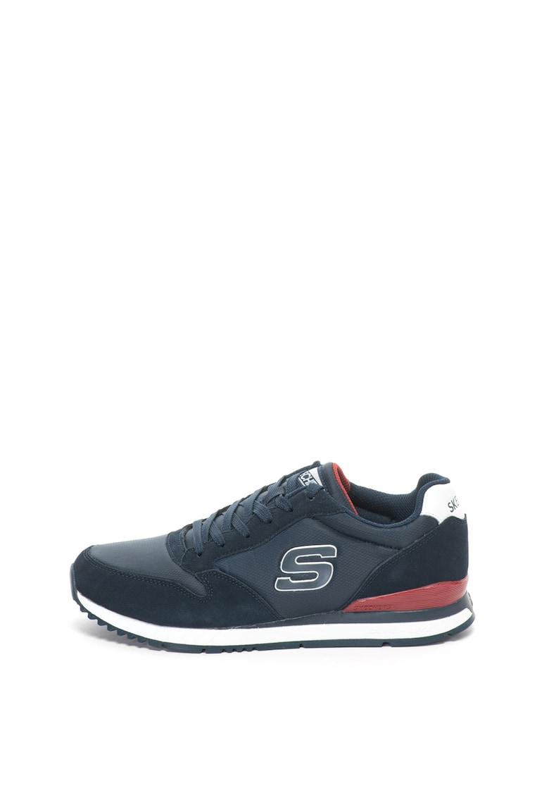 Skechers Pantofi sport cu garnituri de piele intoarsa Sunlite