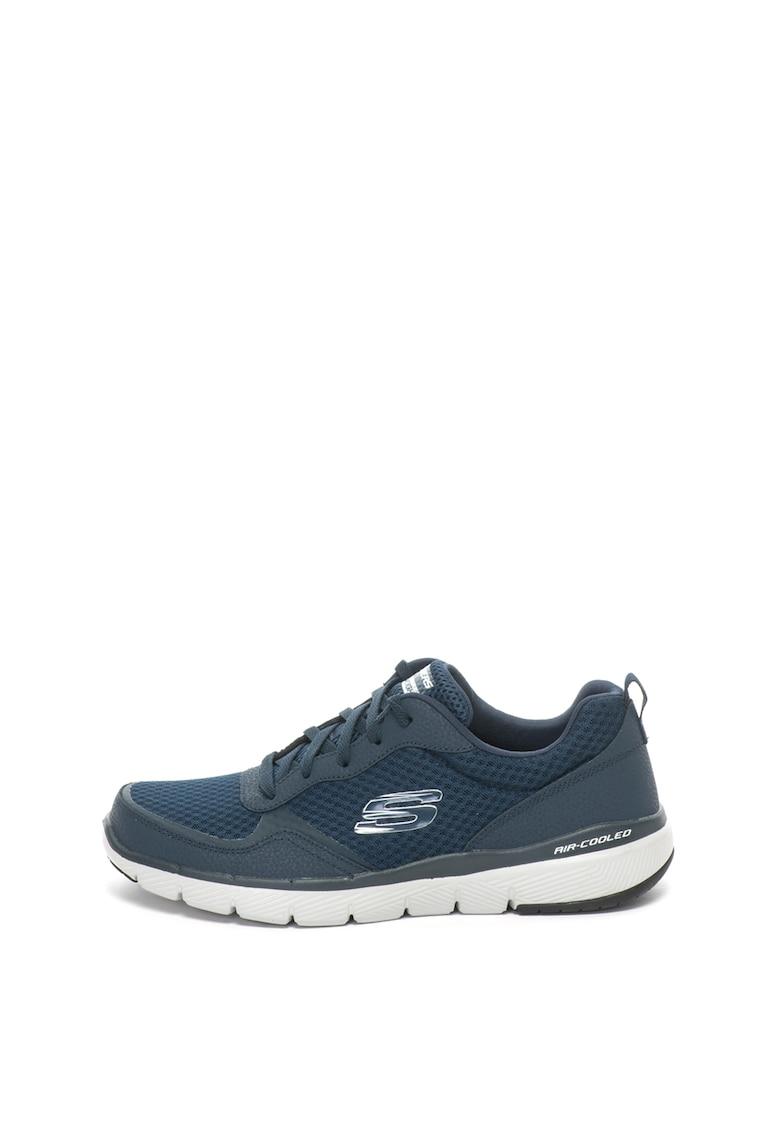 Skechers Pantofi sport usori de piele si plasa Flex Advantage 3.0
