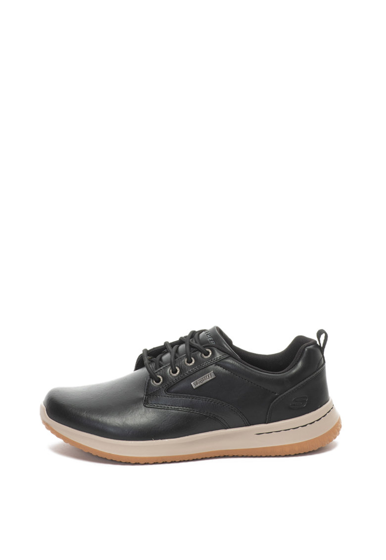 Pantofi casual de piele impermeabili Delson de la Skechers