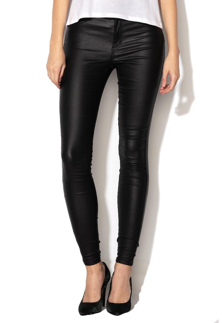 Only Pantaloni skinny cu pelicula lucioasa Royal