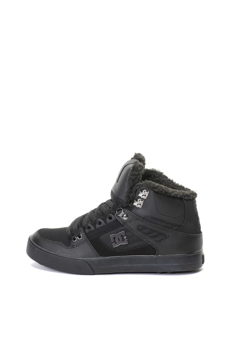 Pantofi sport inalti cu captuseala calduroasa si insetii de piele Pure