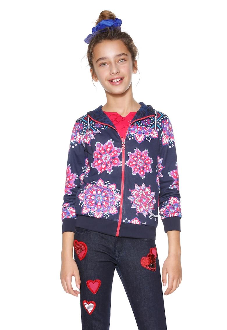 DESIGUAL Hanorac reversibil – cu hanorac si imprimeu floral Cintia