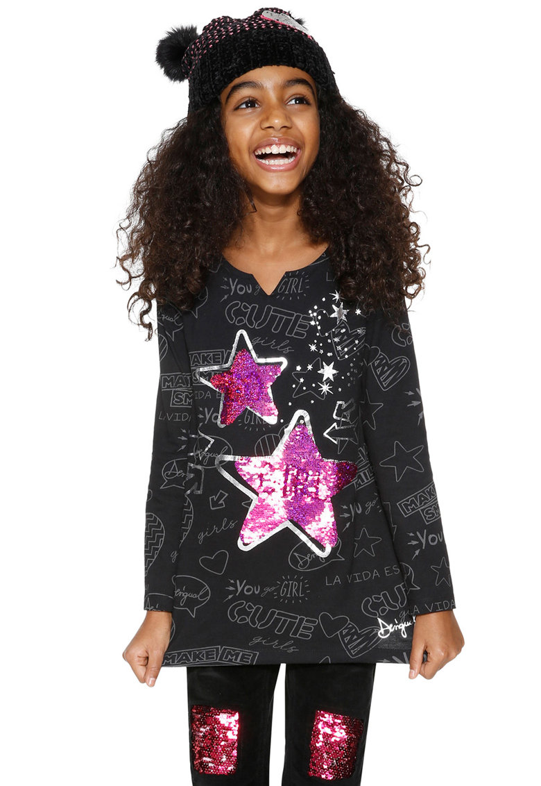 DESIGUAL Bluza cu paiete reversibile Datil